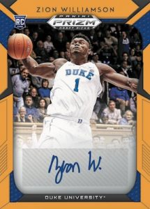 Draft Picks Prizm Silver Auto Zion Williamson