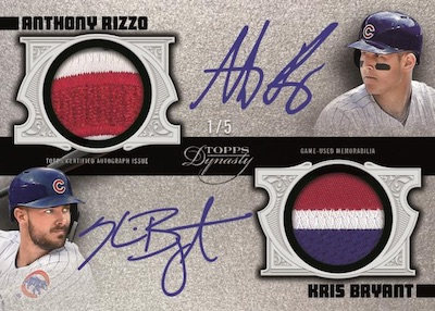 Dual Auto Patch Anthony Rizzo, Kris Bryant MOCK UP