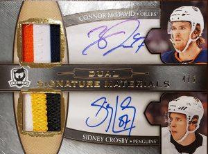 Dual Signature Materials Connor McDavid, Sidney Crosby