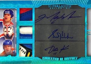 Engraved in History Triple Auto Mark Messier, Grant Fuhr, Jari Kurri