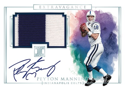 Extravagance Patch Auto Peyton Manning MOCK UP