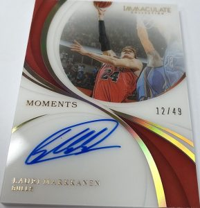 Immaculate Moments Auto Lauri Markkanen
