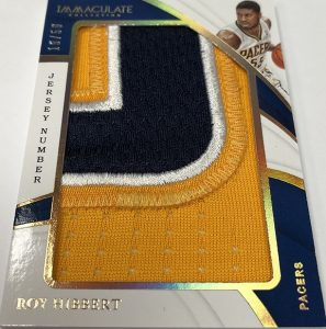 Jumbo Patches Jersey Number Roy Hubbert