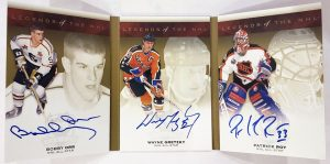 Legends of the NHL Triple Signed Booklet, Bobby Orr, Wayne Gretzky, Patrick Roy