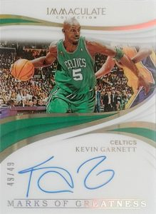 Marks of Greatness Auto Kevin Garnett