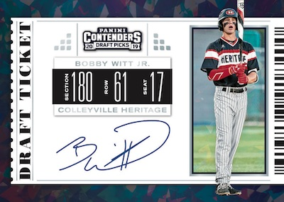 RPS Draft Ticket Auto Bobby Witt Jr