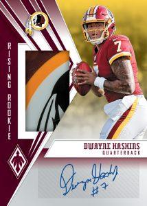 Rising Rookie Material Signature Dwayne Haskins MOCK UP