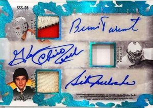 Signature Sweaters 6 Auto Back Rogie Vachon, Tony Esposito, Ed Giacomin, Bernie Parent, Glenn Resch, Gilles Meloche