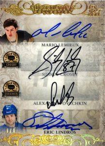 Superlative #1 Picks Auto Mario Lemieux, Sidney Crosby, Alexander Ovechkin, Eric Lindros