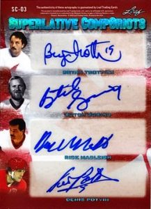 Superlative Comp8triots Back Phil Esposito, Paul Henderson, Marcel Dionne, Bobby Hull, Bryan Trottier, Butch Goring, Rick MacLeish, Denis Potvin