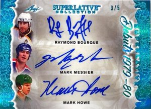 Superlative Debuts Auto Raymond Bourque, Mark Messier, Mark Howe