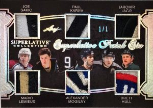 Superlative Patch 6 Joe Sakic, Mario Lemieux, Paul Kariya, Alexander Mogilny, Jaromír Jágr, Brett Hull