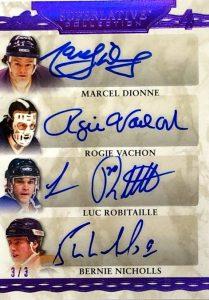 Superlative Signatures 4 Marcel Dionne, Rogie Vachon, Luc Robitaille, Bernie Nicholls