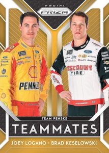 Teammates Joey Logano, Brad Keselowski