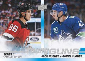 Young Guns Checklist Jack hughes, Quinn Hughes