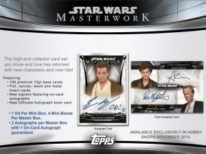 2019 Topps Star Wars Masterwork