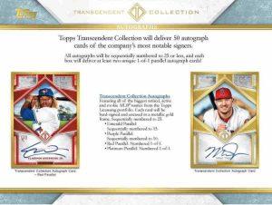 2019 Topps Transcendent Collection Baseball