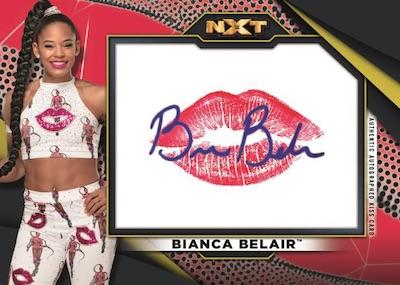 Auto Kiss Relic Bianca Belair MOCK UP