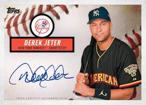 Autographs Derek Jeter MOCK UP