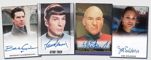 Star Trek Inflexions Starfleets Finest Nana Visitor Kira Nerys Autograph Relic