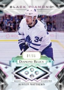 Base Diamond Relics Auston Matthews MOCK UP