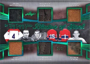 Blades of Steel 6 Jean Beliveau, Maurice Richard, Jacques Plante, Toe Blake, Bert Olmstead, Elmer Lach