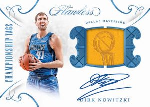 2018-19 Panini Flawless Championship Tags Auto Dirk Nowitzki MOCK UP