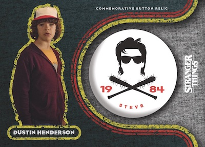 Commemorative Button Pin Relics Dustin Henderson MOCK UP