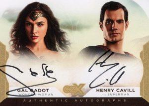 Dual Auto Gal Gadot as Wonder Woman, Henry Cavill as Superman