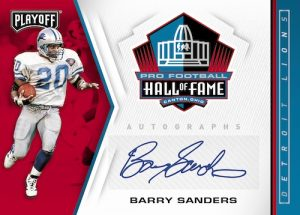 Hall of Fame Autos Barry Sanders MOCK UP