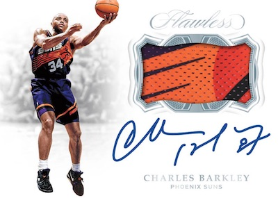 2018-19 Panini Flawless Horizontal Patch Auto Charles Barkley MOCK UP