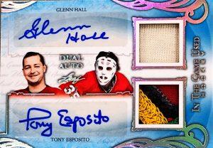 ITG Used Dual Auto Glenn Hall, Tony Esposito