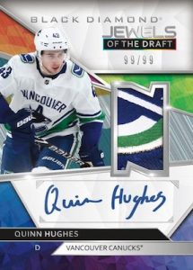 Jewels of the Draft Auto Patch Relics Quinn Hughes MOCK UP