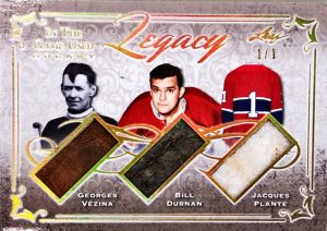 Legacy Georges Vezina, Bill Durnan, Jacques Plante
