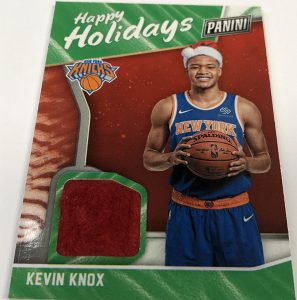 Multi-Sport Happy Holidays Relics Kevin Knox