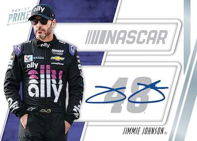 NASCAR Shadowbox Signature Card Number Jimmie Johnson MOCK UP
