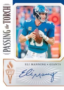 Passing the Torch Dual Auto Front Eli Manning MOCK UP