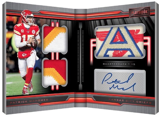 Playbook Material Autos Patrick Mahomes II MOCK UP