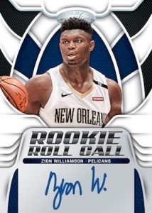 Rookie Roll Call Auto Zion Williamson MOCK UP