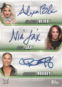 Triple Auto Alexa Bliss, Nia Jax, Ronda Rousey MOCK UP