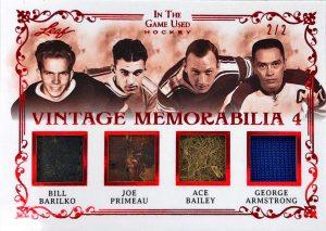 Vintage Memorabilia 4 Bill Barilko, Joe Primeau, Ace Bailey, George Armstrong
