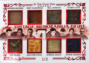 Vintage Memorabilia 8 Maurice Richard, Bert Olmstead, Bill Durnan, Elmer Lach, Toe Blake, Jean Beliveau, Aurele Joliat, Howie Morenz