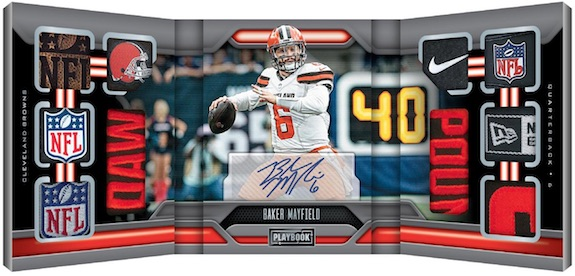 Vault Tri-Fold Jersey Auto Baker Mayfield MOCK UP
