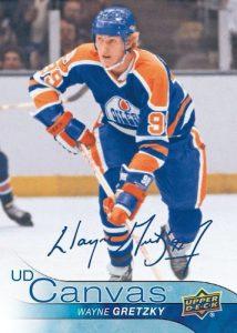 2016-17 Wayne Gretzky UD Canvas Retired Stars Auto Added Buyback