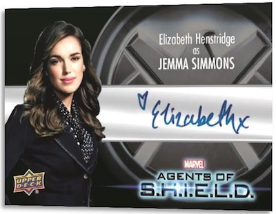 Actor Auto Elizabeth Henstridge as Jemma Simmons MOCK UP