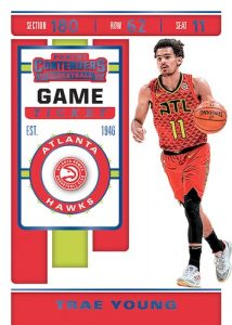 Base Game Ticket Blue Trae Young MOCK UP