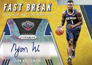 Fast Break Rookie Auto Zion Williamson MOCK UP