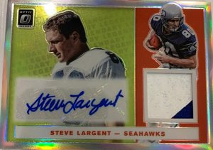 Legendary Patch Auto Steve Largent