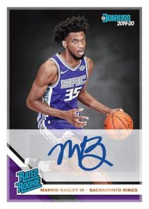 Rated Rookie Signatures Marvin Bagley III MOCK UP