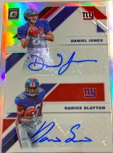 Rookie Dual Auto Daniel Jones, Darius Slayton